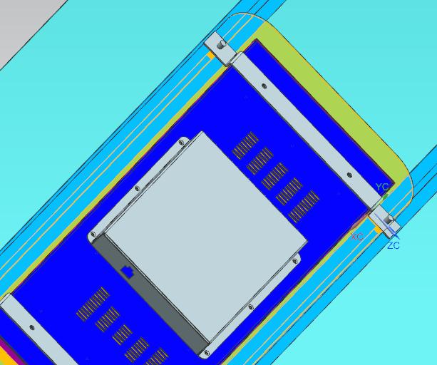 条形智能轨道交通条形屏-车载屏安装示意图1